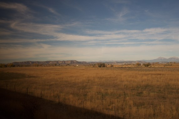 Train shadow dance across the plains, wide sky or wider eyes?