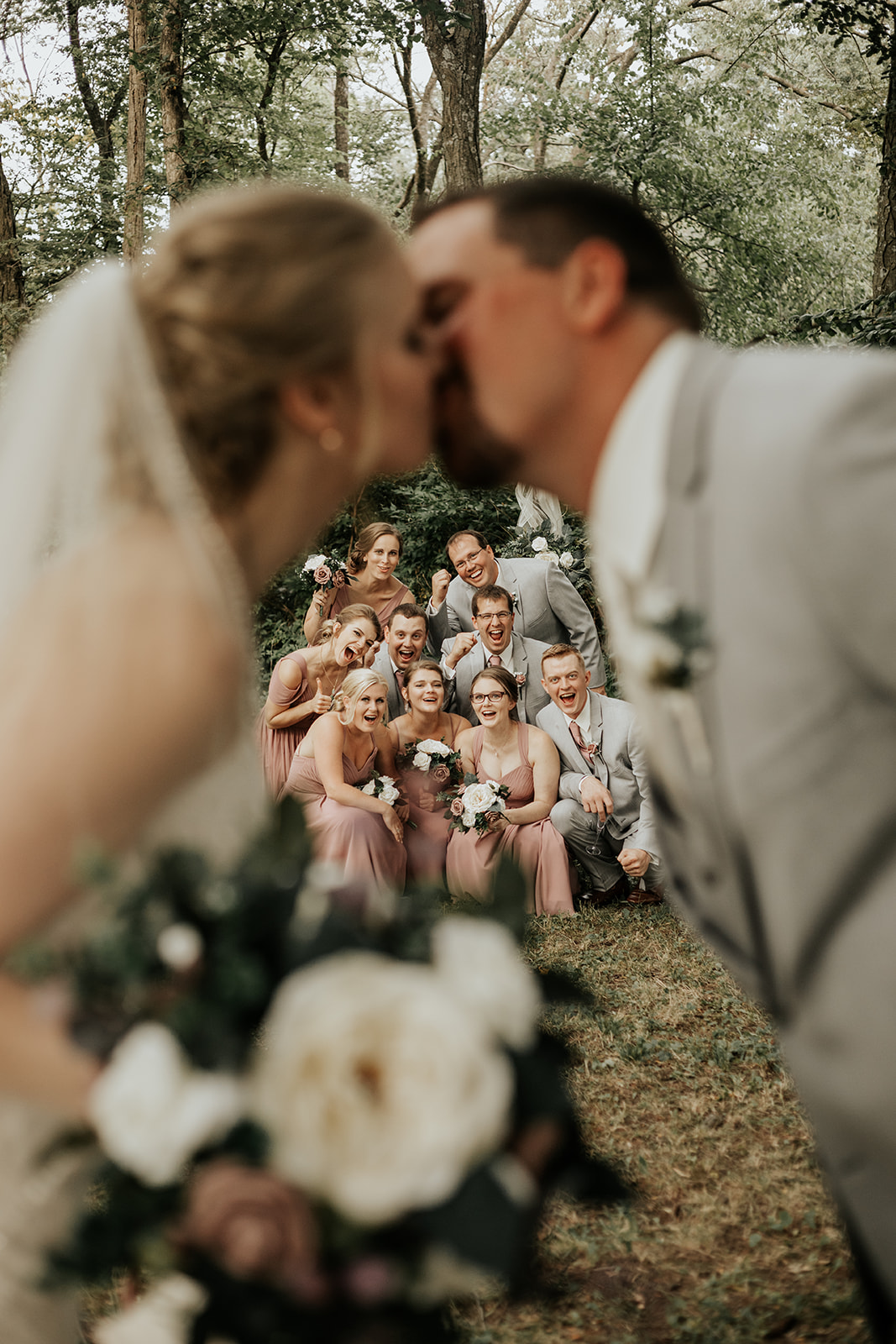 wedding party sneak shot