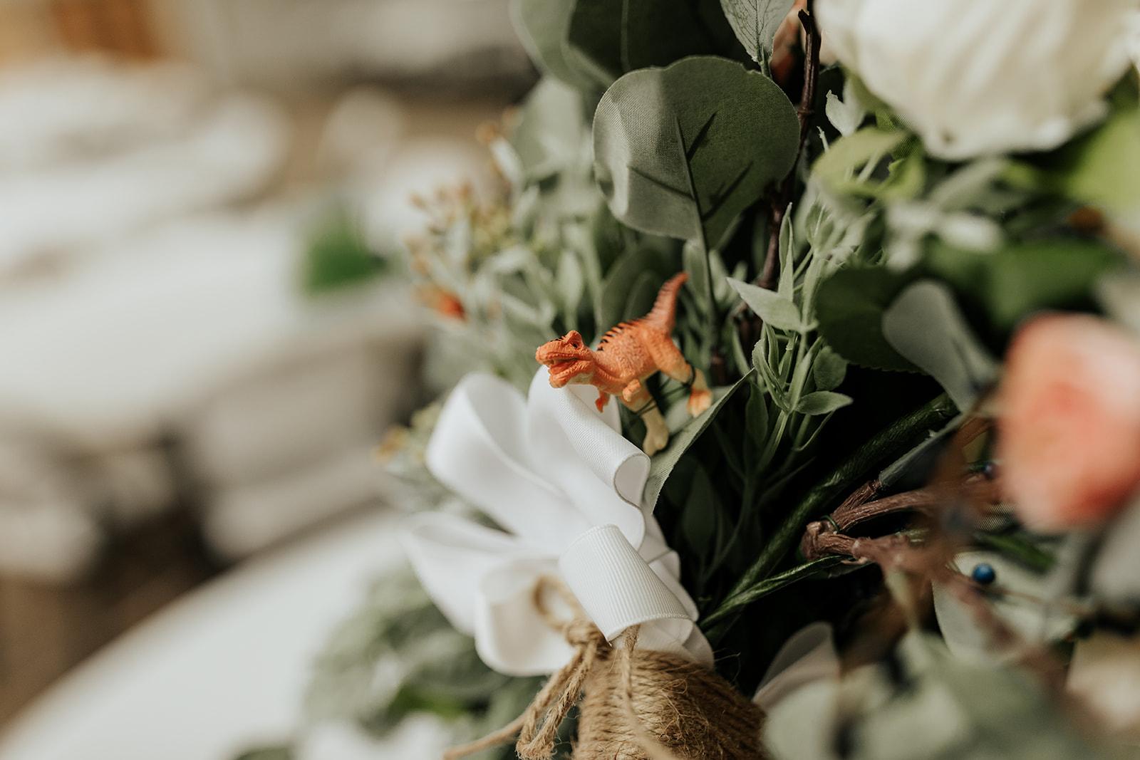 hidden dinosaur bouquet