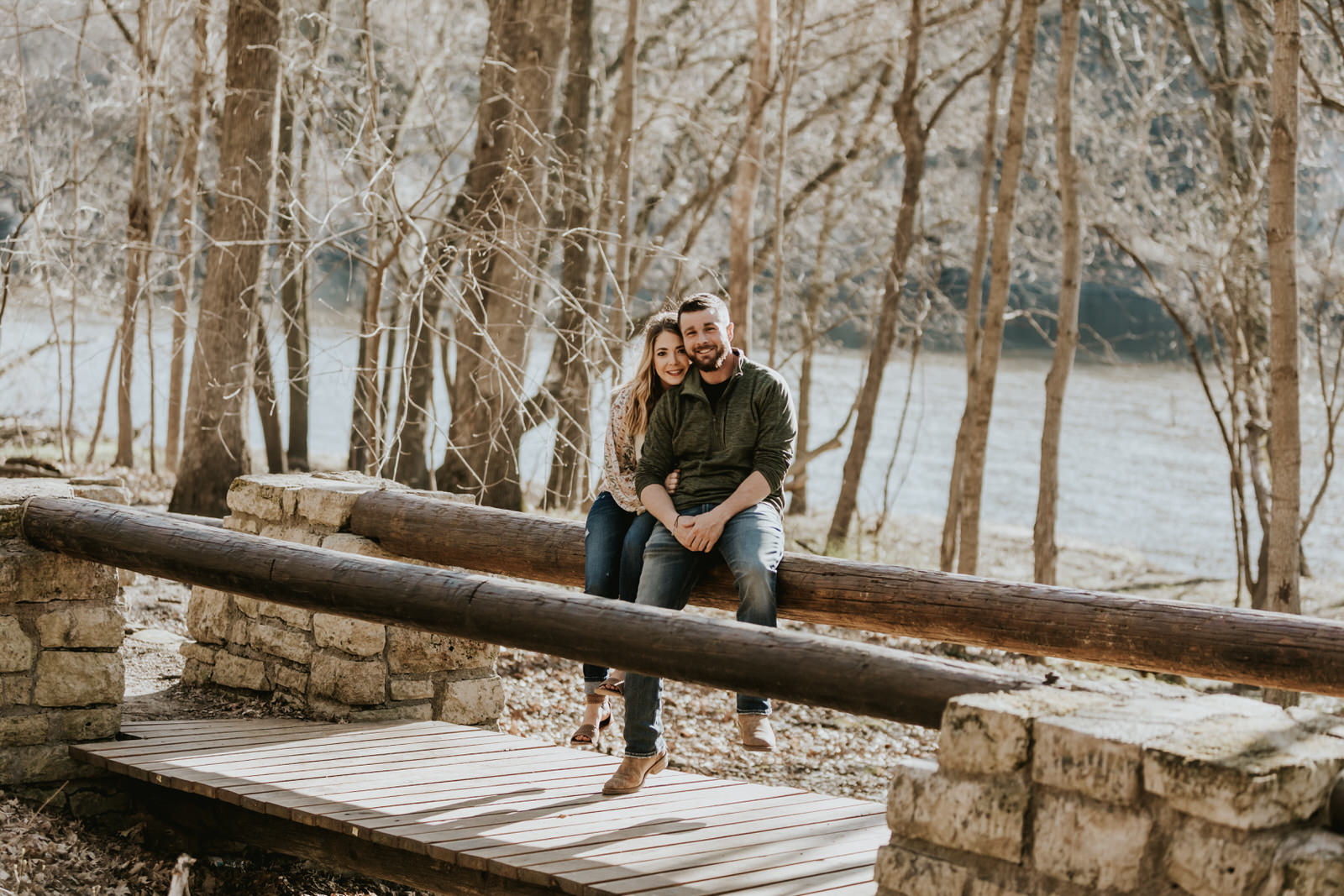Lauren & Tom Adventurous Outdoor Engagement Palisades