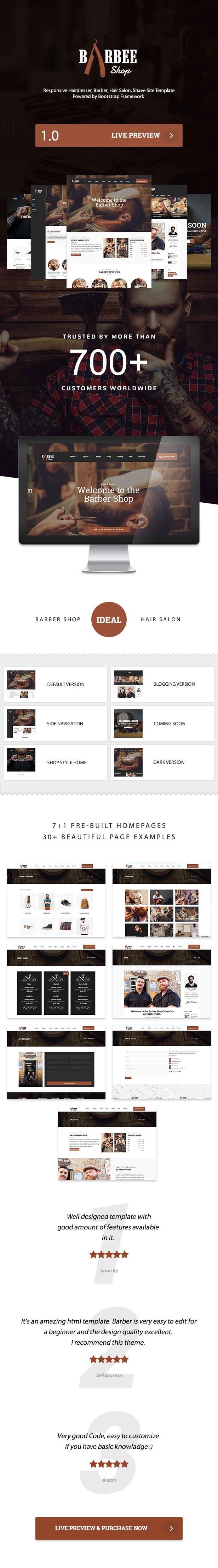 Barbee   Responsive Barber Shop & Hair Salon WordPress Theme - 3