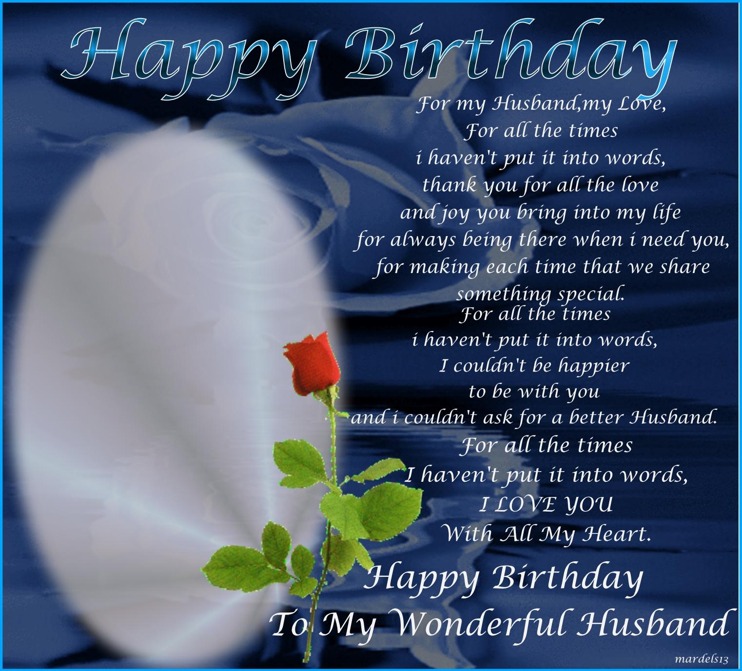 Zostream Birthday Frames For My Husband My Love Mardels13 Birthdays Mardels13
