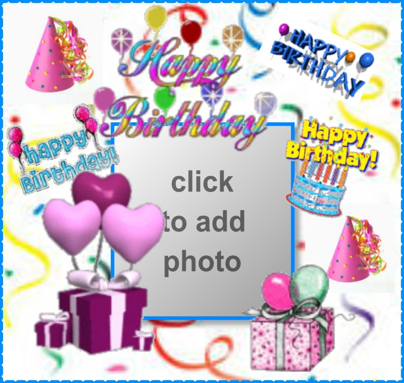 Imikimi Photo Frames Free Birthday | Coloringsite.co