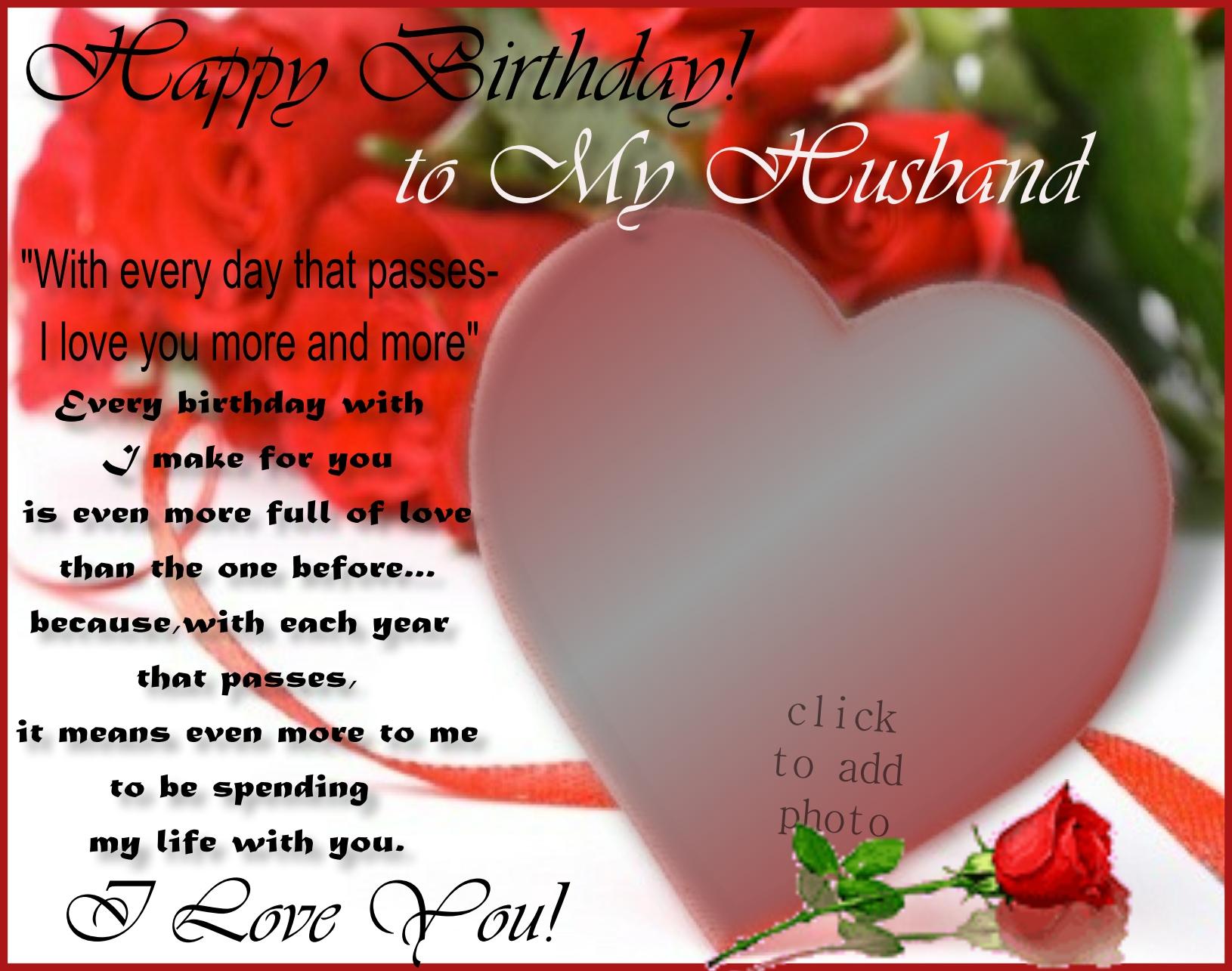Imikimi Zo Birthday Frames Happy Birthday To My Husband Edit Husband To Wife Mardels13