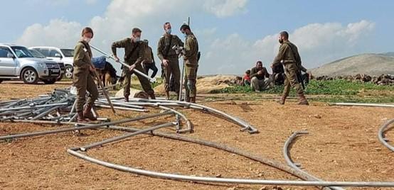 חיילים שבו לחירבת חומסה והחרימו ציוד שנתרם; פעולת תג מחיר ליד ההתנחלות שילה