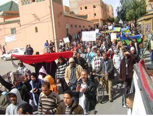 ב20 בפברואר 2011 פרצו הפגנות בכל ערי מרוקו כנגד שלטונו של המלך מוחמד השישי