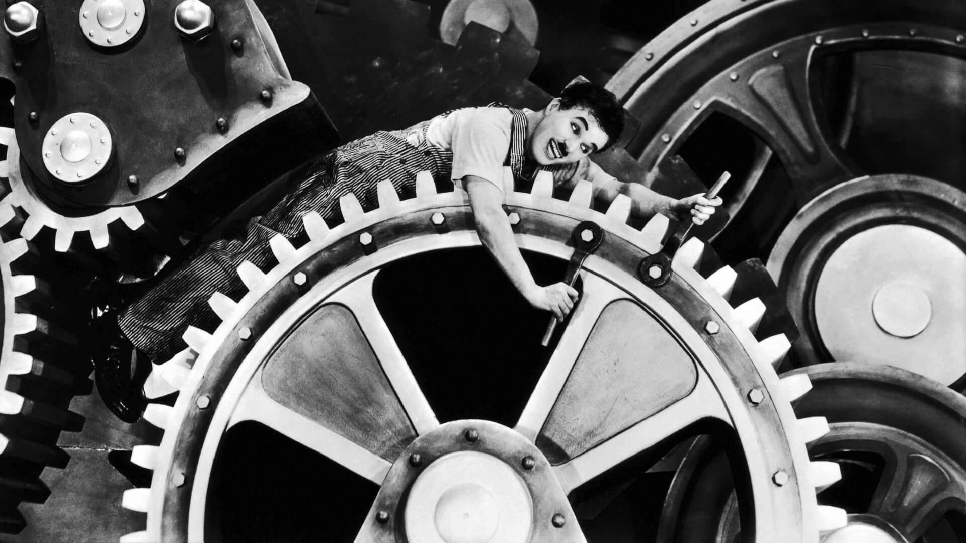 """ב5 בפברואר 1936 הוקרן לראשונה הסרט האנטי קפיטליסטי """"זמנים מודרנים"""" של צ'רלי צ'אפלין"""