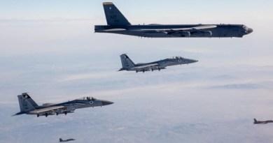 איראן על הכוונת: מטוסי אף-15 של חיל האוויר ליוו מפציצים אמריקניים