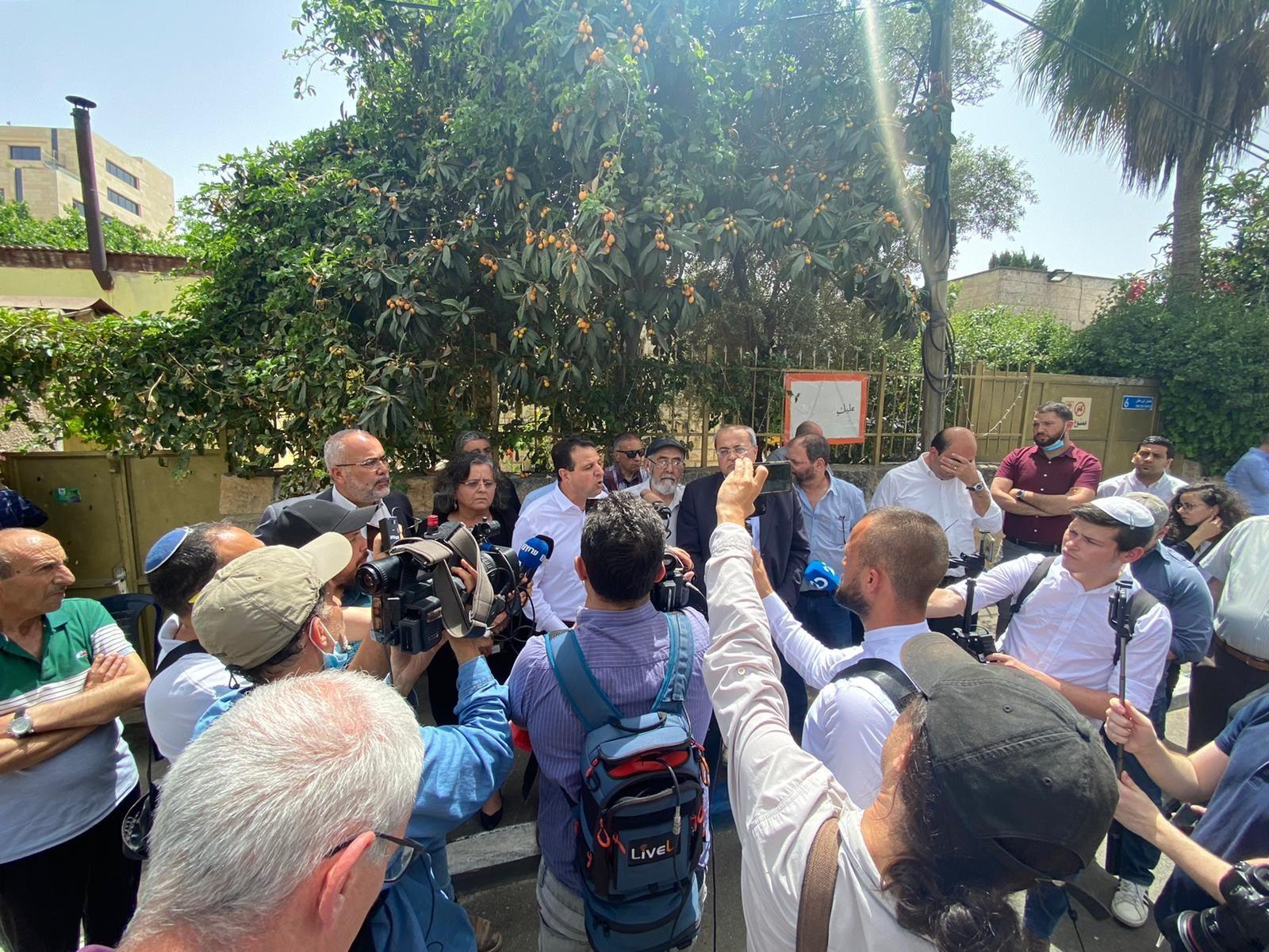 """ח""""כ עודה במסיבת עיתונאים בשייח' ג'ראח: איפה שיש כיבוש – יש התנגדות"""