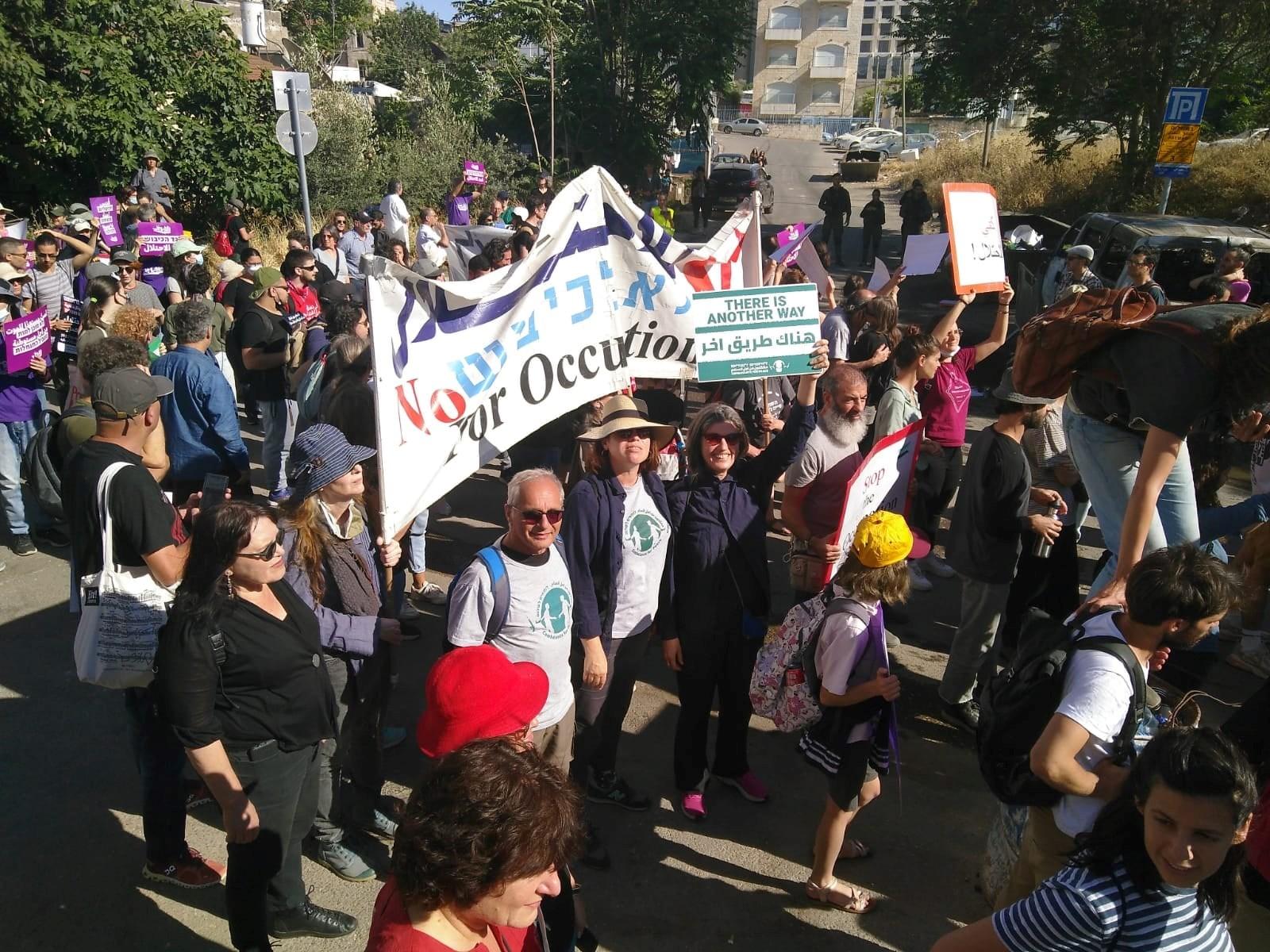 הפגנה בשייח' ג'ראח נגד גירוש תושביה הפלסטינים פוזרה בכוח רב