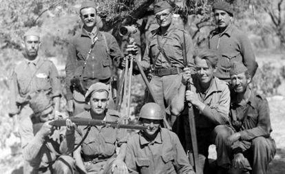 לוחם קומוניסטי פלסטיני בבריגדות הבינלאומיות במרכז רומן שפורסם לאחרונה