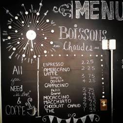 Menu Zoha Café