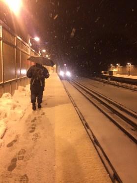 Snowy train rides [that's my dad trudging ahead!]