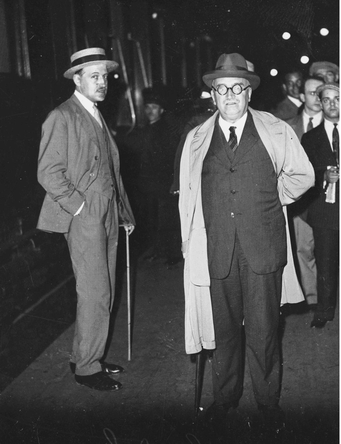 Paul Petit et Paul Claudel, 1938