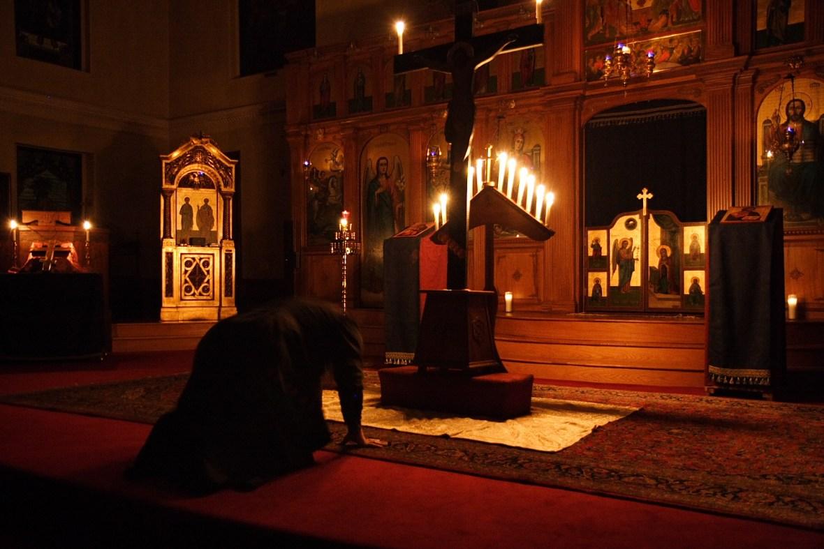 To εσωτερικό της εκκλησίας του Αγίου Πορφυρίου