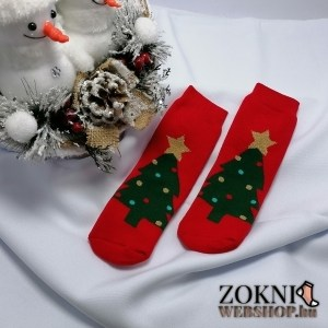 mikulásos gyerek vastag zokni karácsonyfás