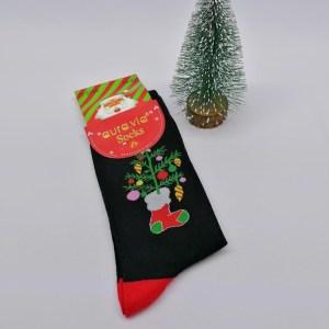 karácsonyfás zokni