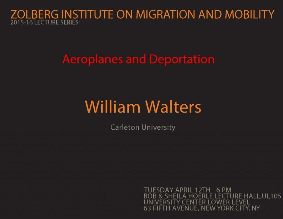 POSTER Walters lecture