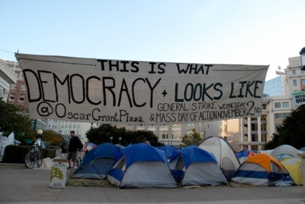 Encampment At Oscar Grant Plaza Oakland