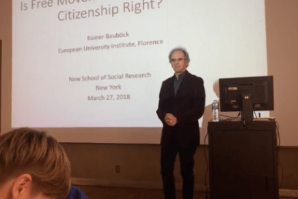 Is Free Movement a Human or a Citizenship Right? Event Recap