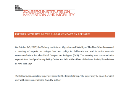 A Global Action Platform for Forced Migration: A Proposal for the Global Compact on Refugees