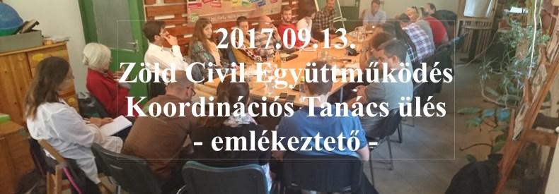 A 2017.09.13-i KT ülés emlékeztetője