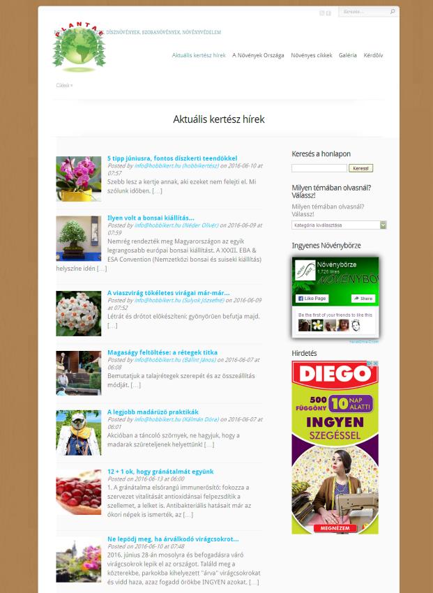 Plantae - Kertészeti magazin