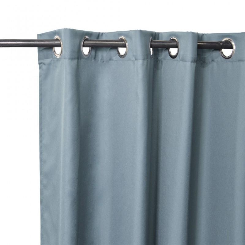 lot de 2 rideaux cory a œillets bleu gris 140x240cm