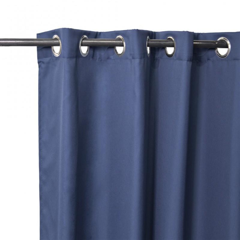 lot de 2 rideaux cory a œillets bleu marine 140x240cm