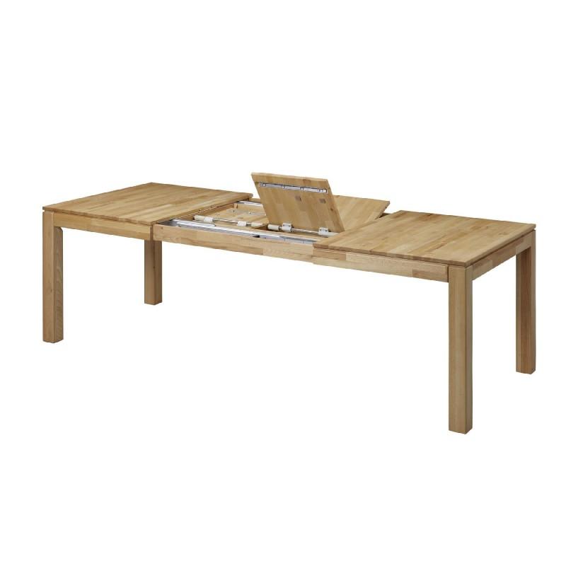grande table a manger extensible 160 290cm 6 12 personnes bois chene massif