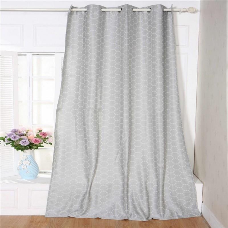 rideau motif octogonal 260x140 cm couleur gris