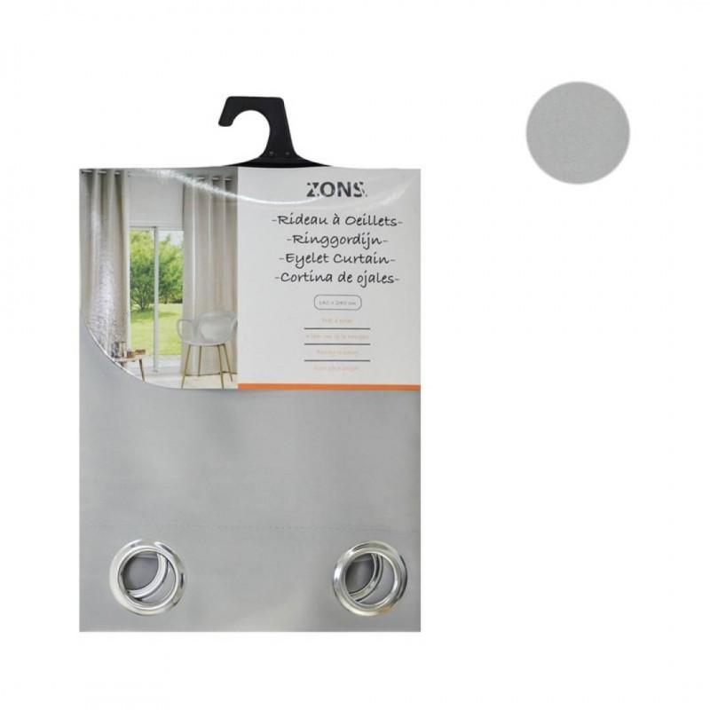 lot de 2 rideaux pastel 240x140 cm couleur gris