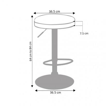 tabouret de cuisine hauteur reglable pivotant 360 irma anthracite