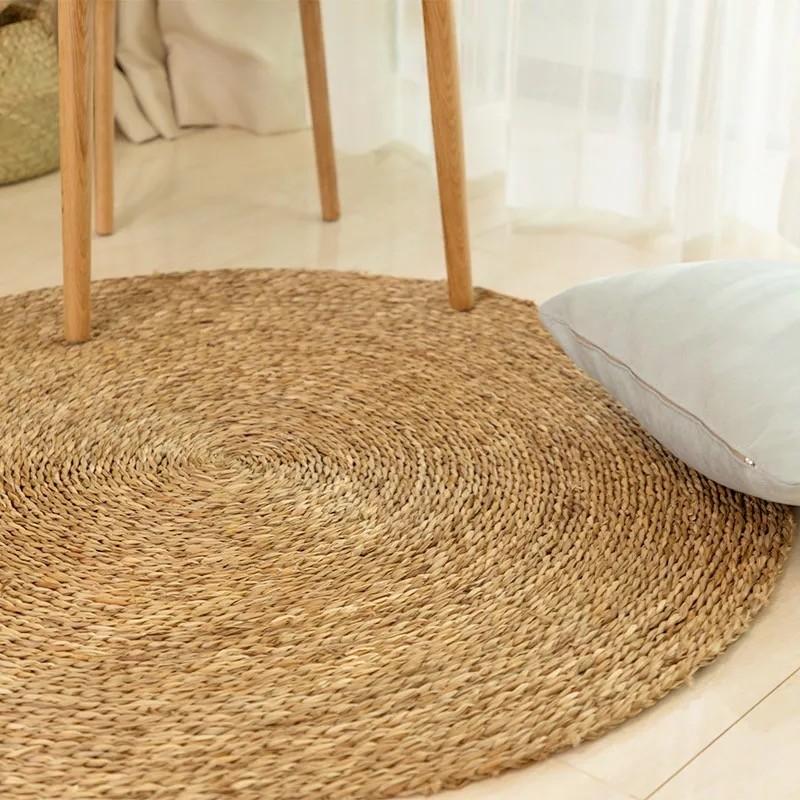 tapis rond en jute naturelle marno
