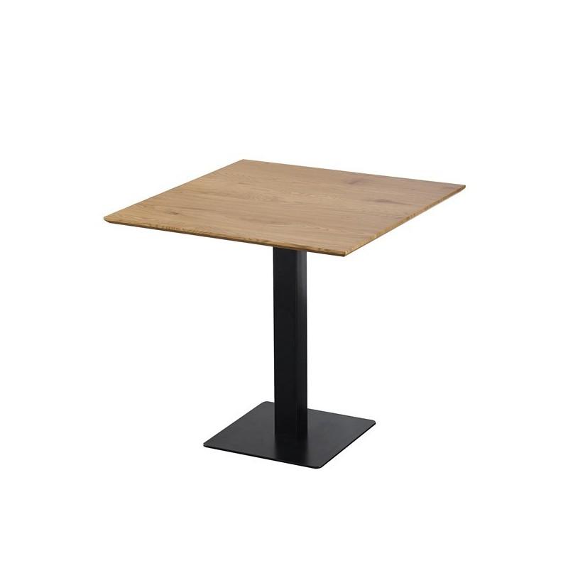 table carree avec pied central josua pour cuisine ou salle a manger 80x80xh76 cm