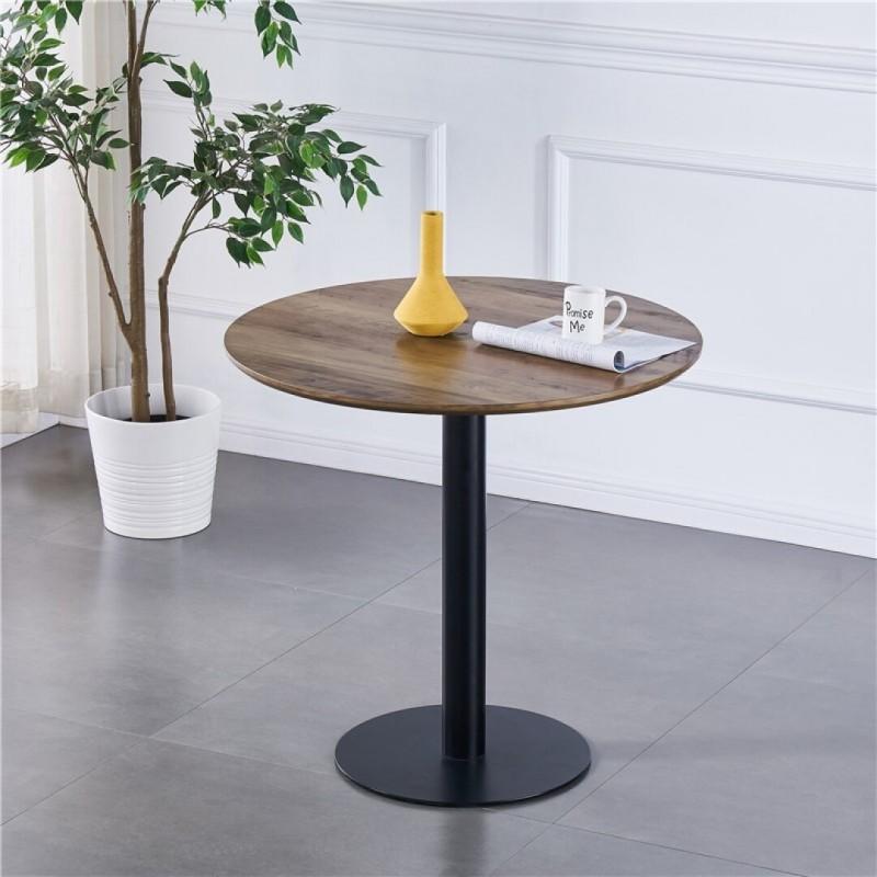 table ronde avec pied central josua pour cuisine ou salle a manger d80xh76 cm