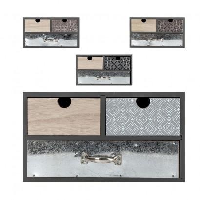 petit meuble decoratif en bois 30x14 5x16 5cm 4 couleurs marron