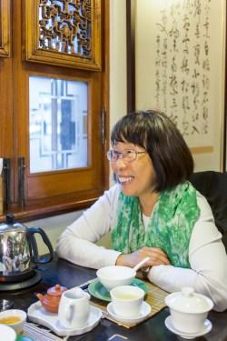 Daphne Chan Chun-hing at Laap Tea House in Hong Kong Park