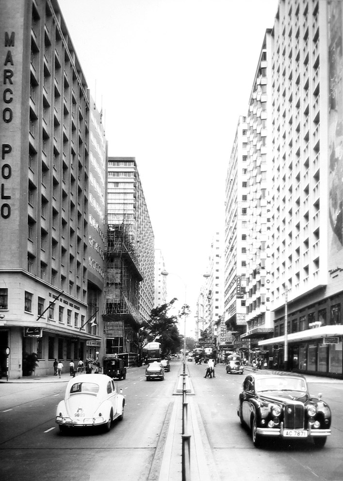 Nathan road circa 1960ies - Courtesy of Picture this Gallery