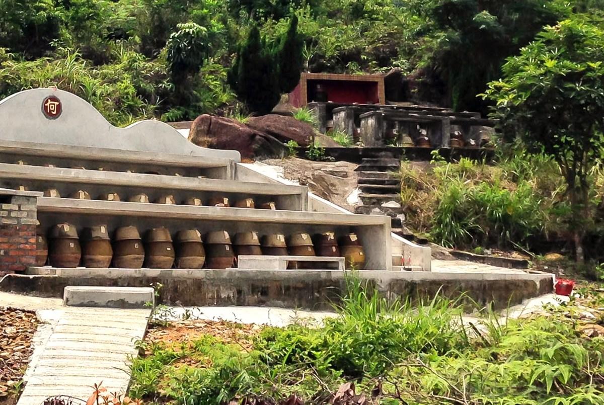 Tombs on Olympic Trial on Lantau island