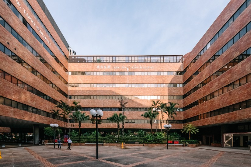 The original PolyU campus includes many outdoor spaces