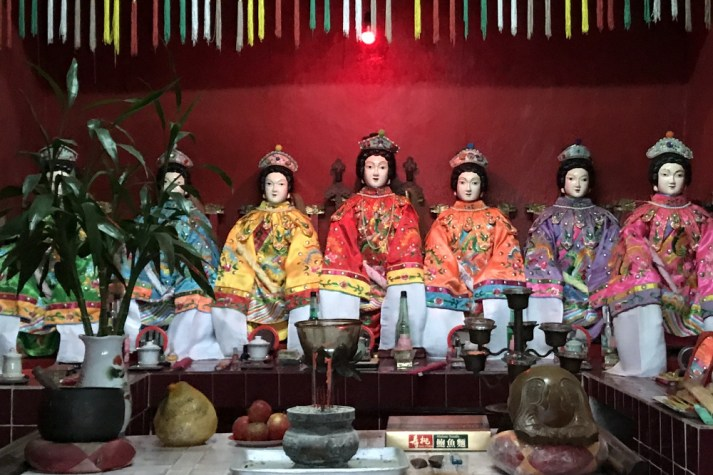 The uncovered Seven Sisters in To Yuen Tong Temple