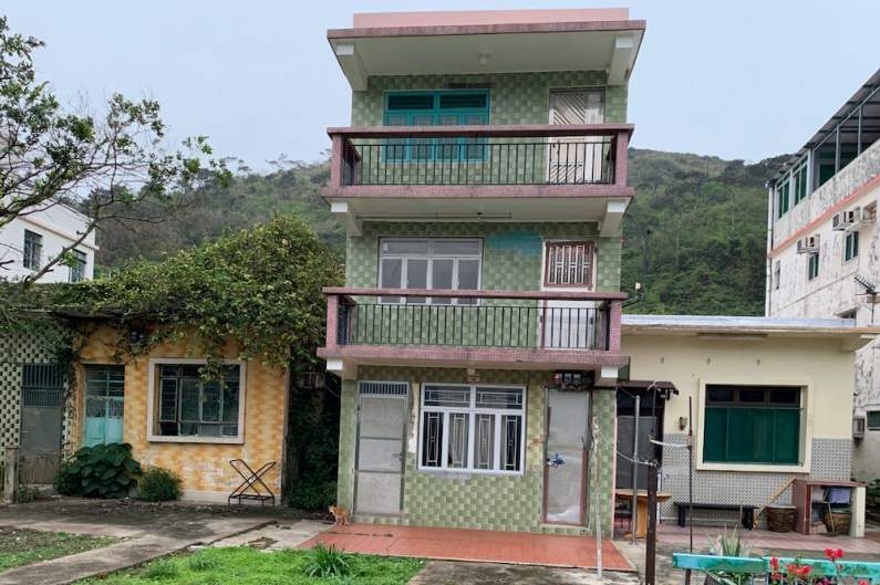 Houses with varied materials in Tai O