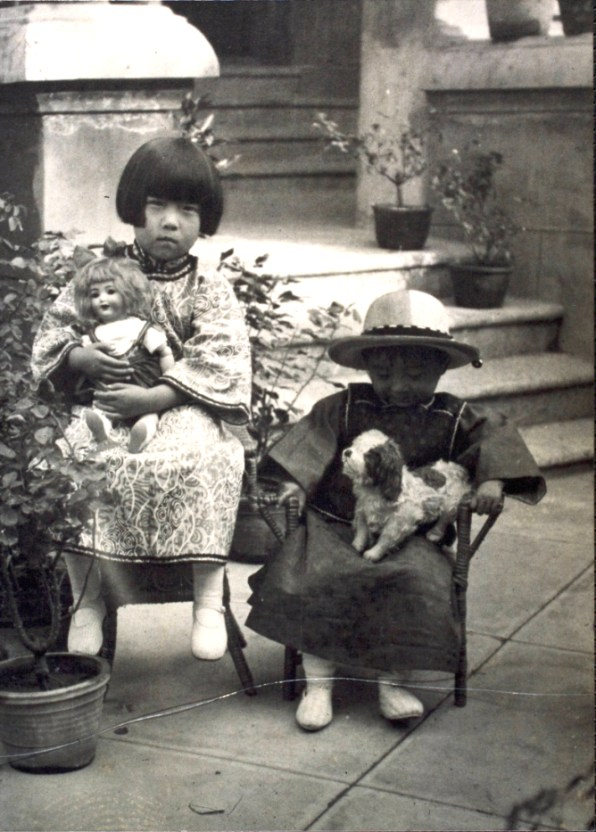 Eileen Chang and her brother Zhang Zijing