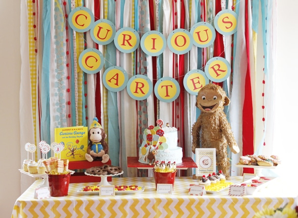 Curious George Birthday Party Curious George Birthday Pretty My Party