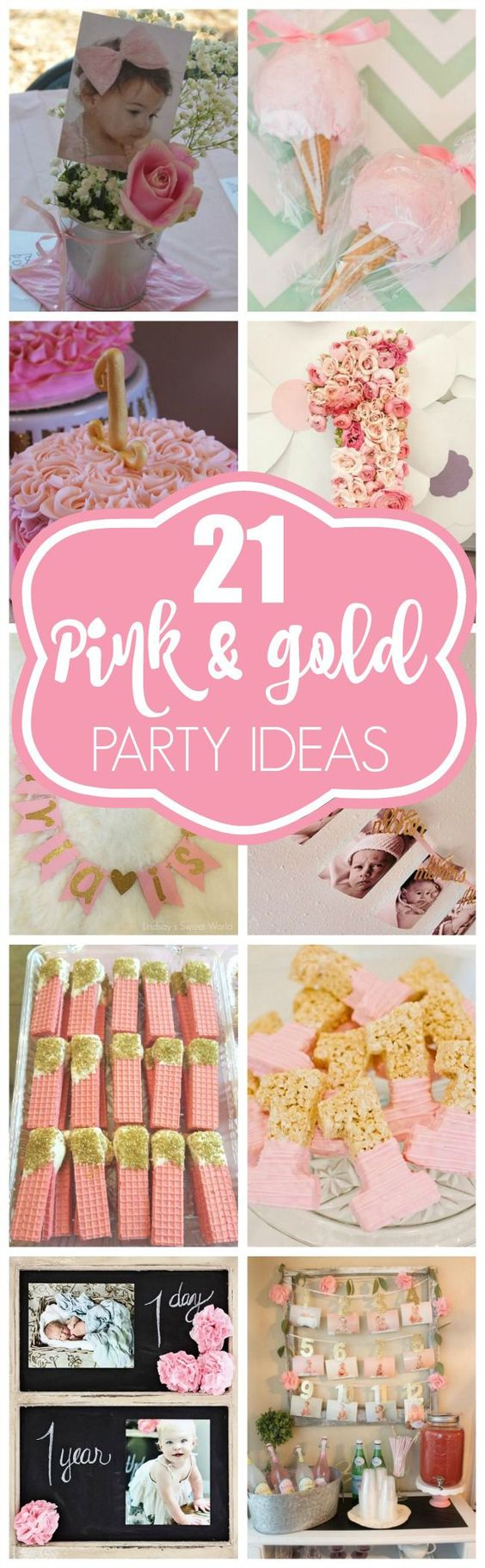 21 Pink And Gold First Birthday Party Ideas Pretty My Party Party Ideas