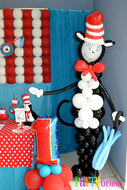 Dr Seuss Party Supplies Balloons Decorations Cat In The Hat Balloons For Kids Birthday Party Decorations Home Kitchen Balloons