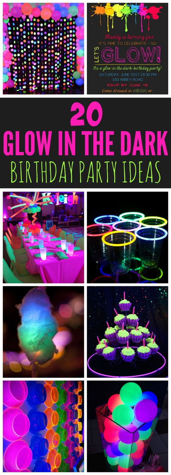 20 Epic Glow In The Dark Party Ideas Pretty My Party Party Ideas