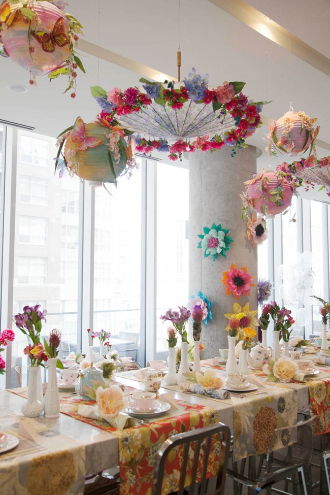 Beautiful Floral High Tea Bridal Shower