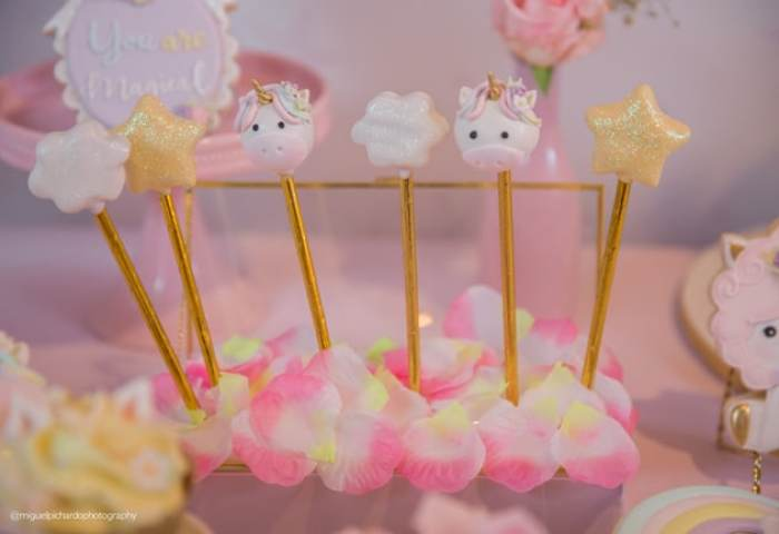 Baby Unicorn Themed First Birthday Party Pretty My Party Party Ideas